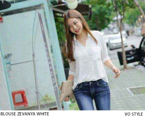 KODE : BLOUSE ZEVANYA WHITE IDR : 68.000,-  MATERIAL : KATUN RAYON HIGH QUALITY SIZE : ALLSIZE..